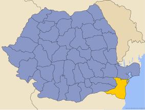 Harta României cu județul Constanța indicat