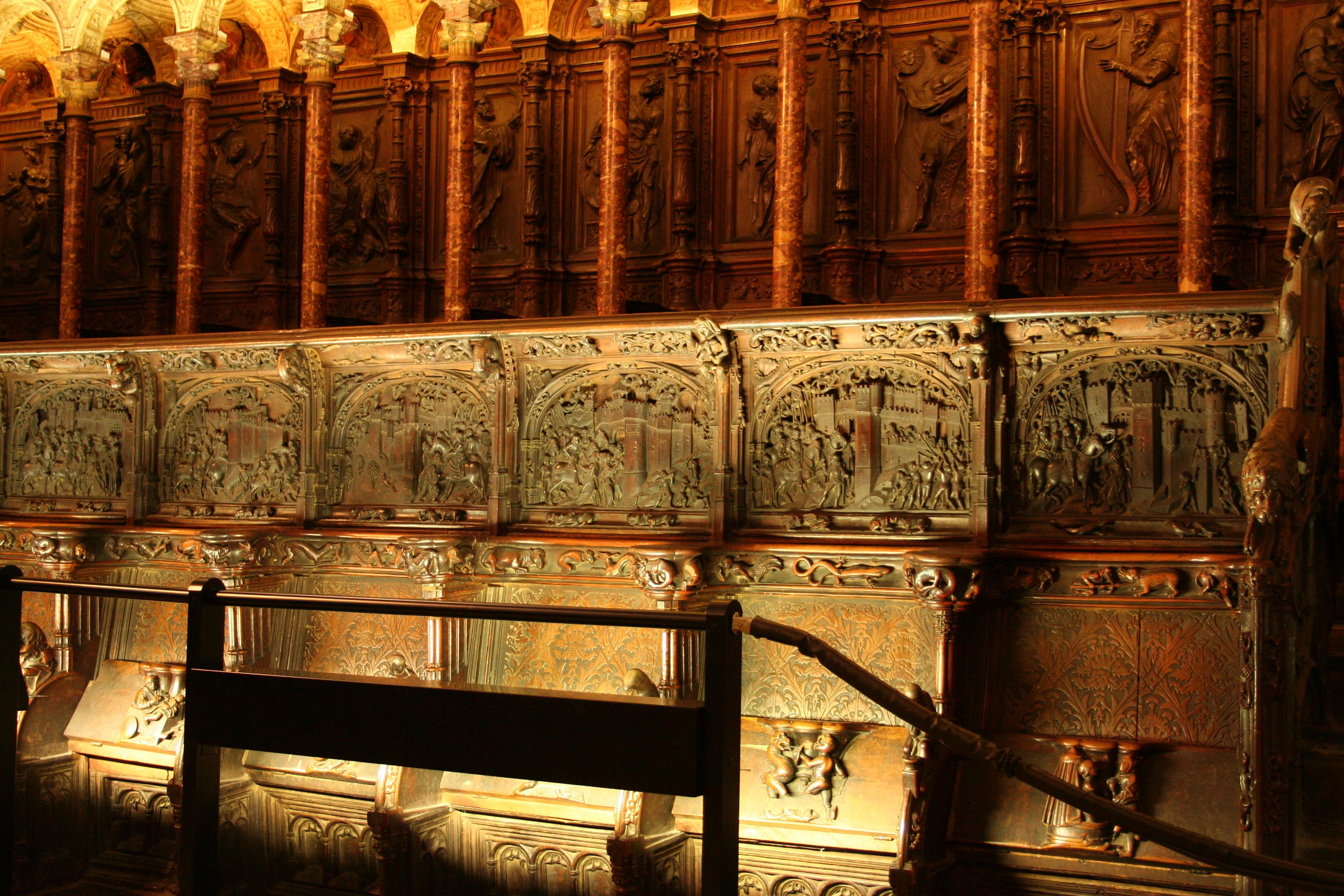 File Coro Catedral Toledo Silleria Jpg Wikimedia Commons