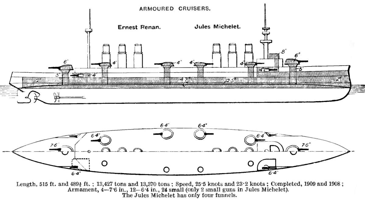 French cruiser Ernest Renan - ...