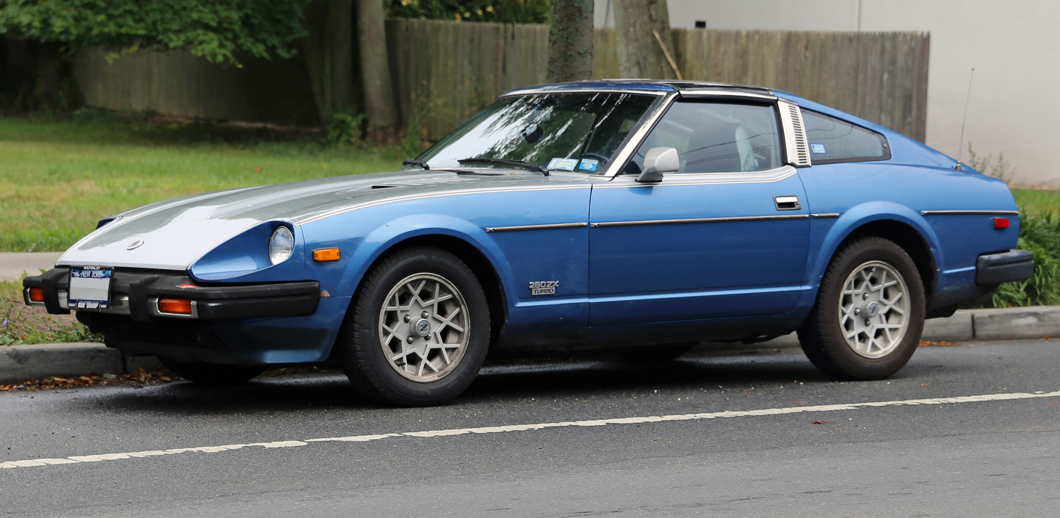Archivo Datsun 280ZX Turbo in blue and silver on 1976 datsun 280z engine