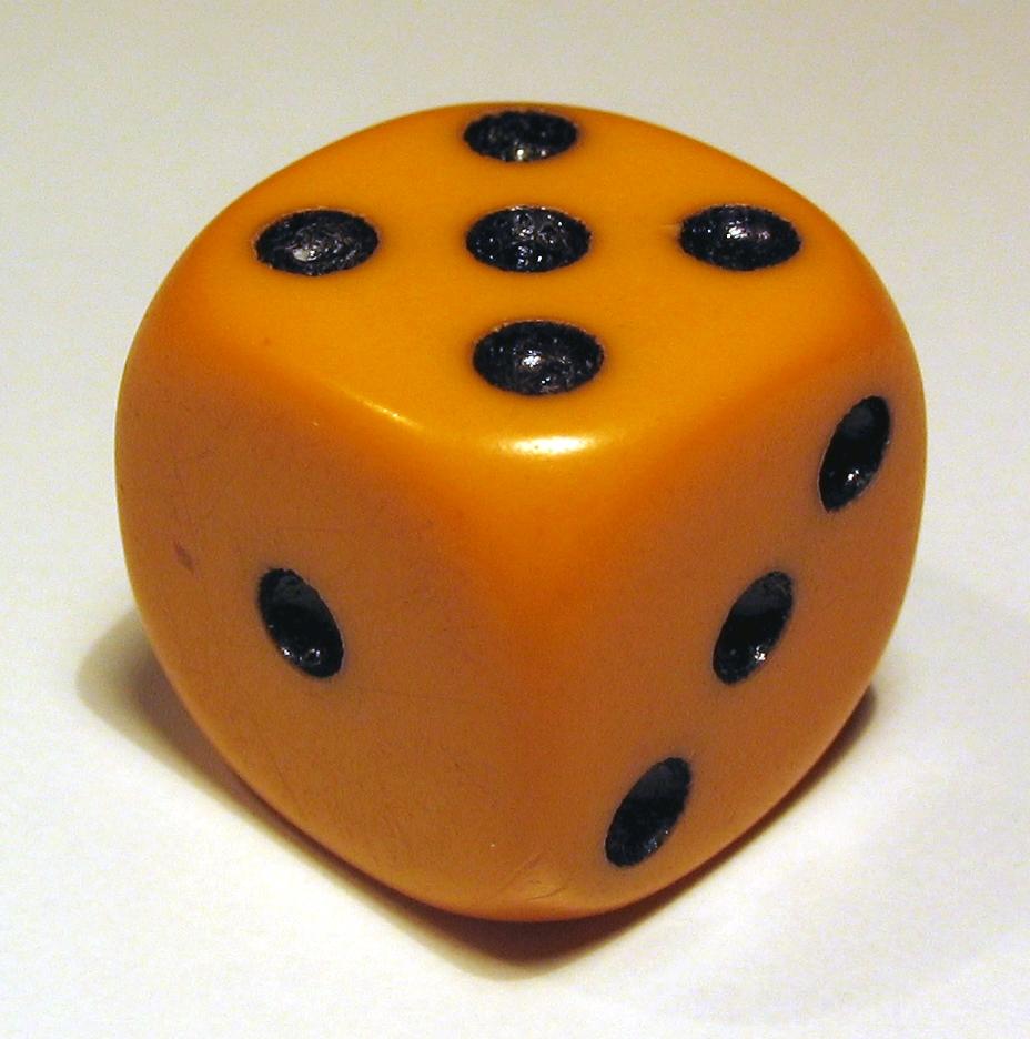 ''Würfel'' mit sechs Seiten zum Spielen
