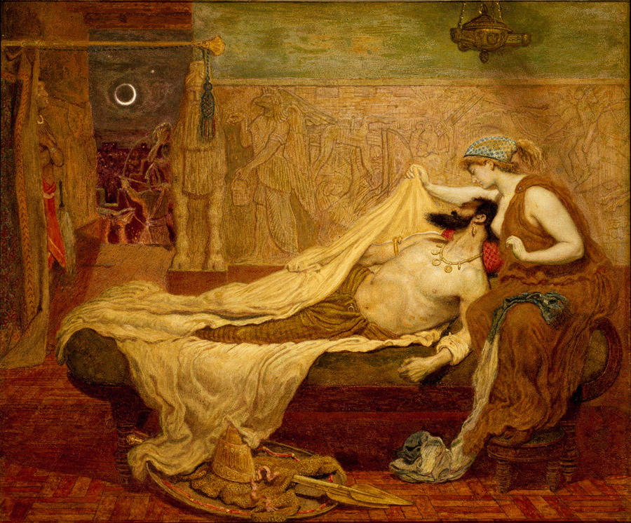 File:Dream of Sardanapalus 1871 Ford Madox Brown.jpg - Wikimedia Commons
