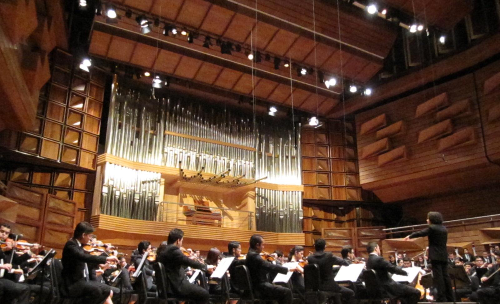 Concierto en el Centro Nacional de Acción Social para la Música en Caracas