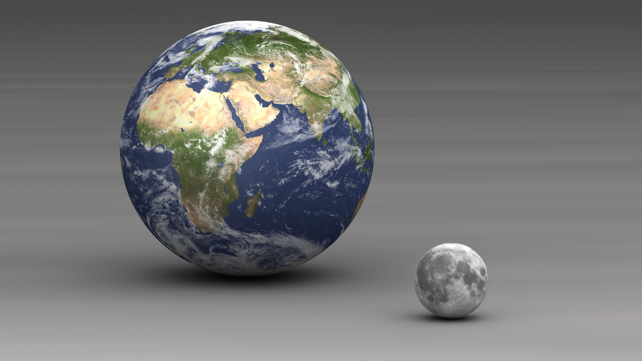 What is the size of the Earth compared to the moon? | Socratic