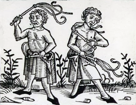 Flagellants. From a fifteenth century woodcut.
