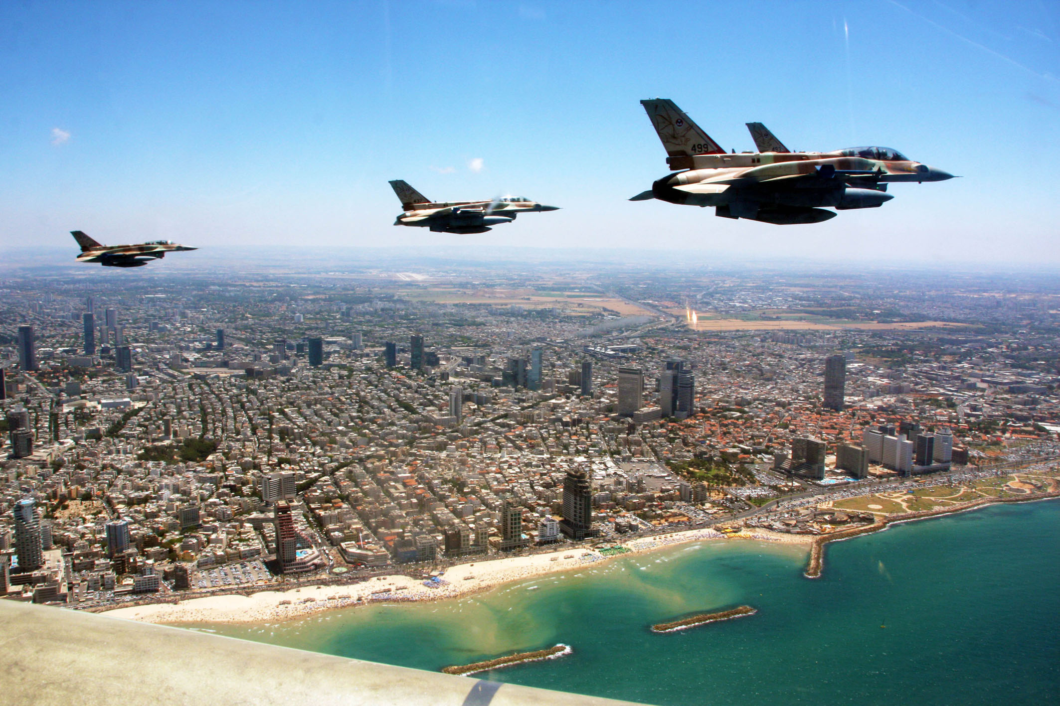 The Israeli Air Force crosses all of Israel from north to south, in honor of the country's 63rd Independence Day in 2011/5771.