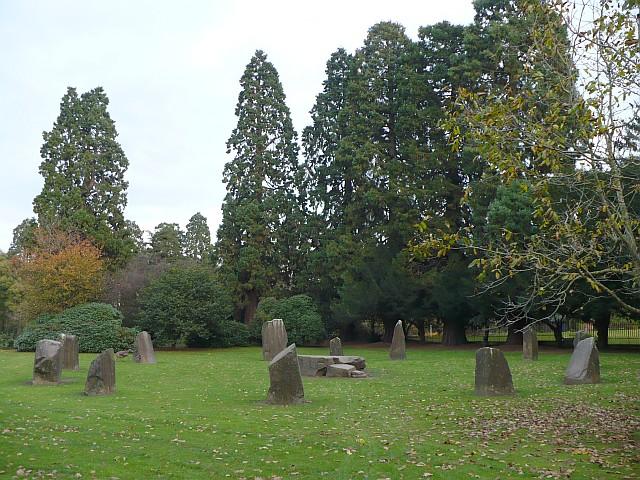 Gorsedd stone circle, Tredegar House Park - geograph.org.uk - 616774