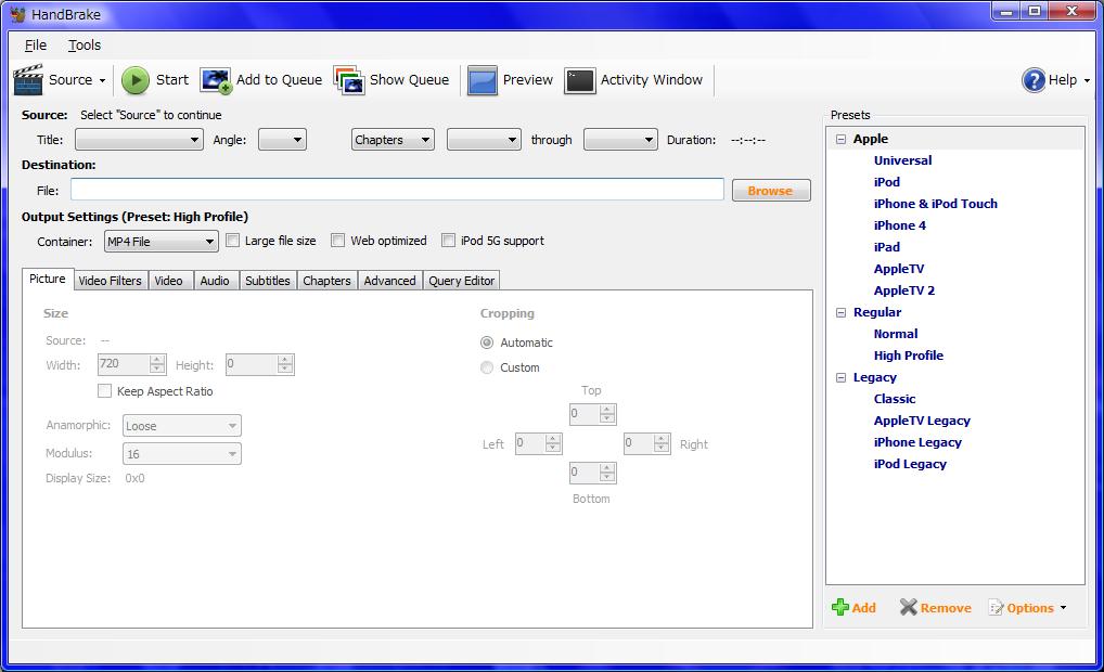 File:HandBrake-0 9 5-Win GUI png - Wikimedia Commons
