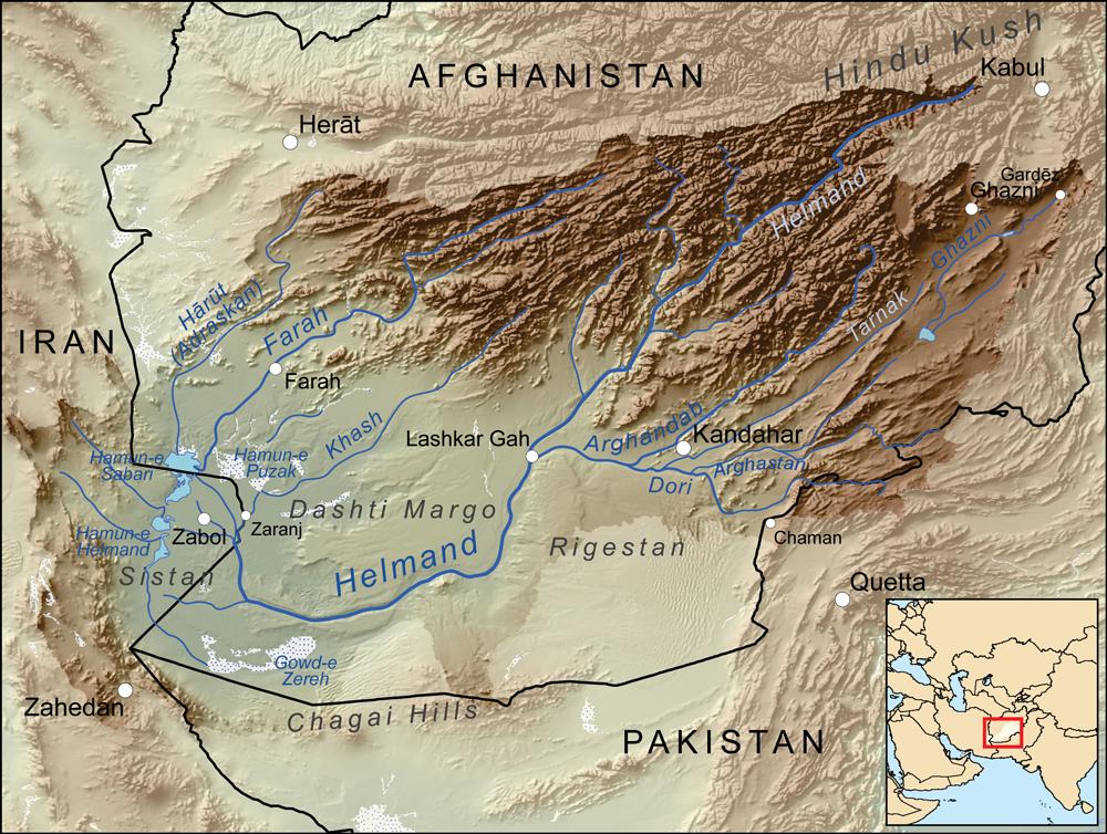 HinduKush Mountains Map