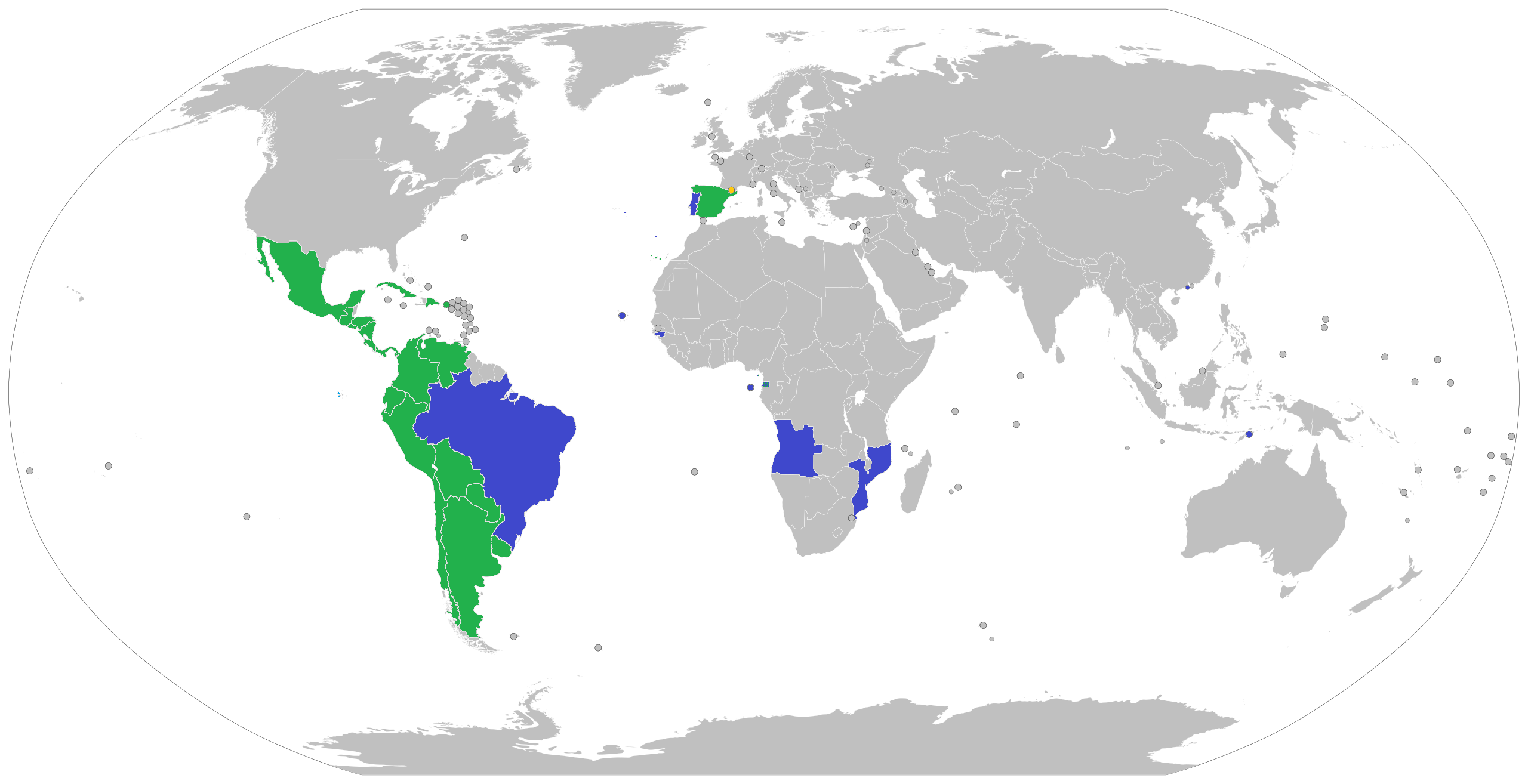 Countries spanish speaking Naming Conventions