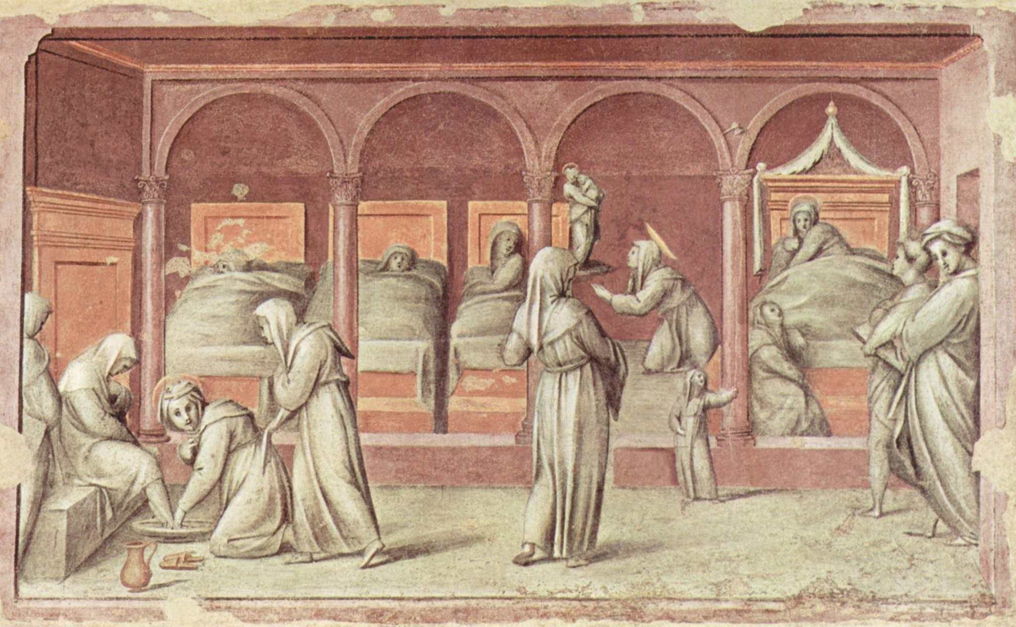 Firenze | Galleria dell'Accademia | Pontormo (1494–1557), Episodio di vita ospedaliera, 1514, affresco, 91 × 150 cm
