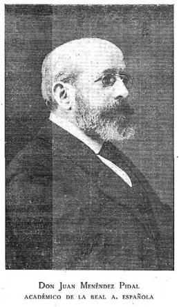 Menéndez Pidal, Juan (1861-1915)