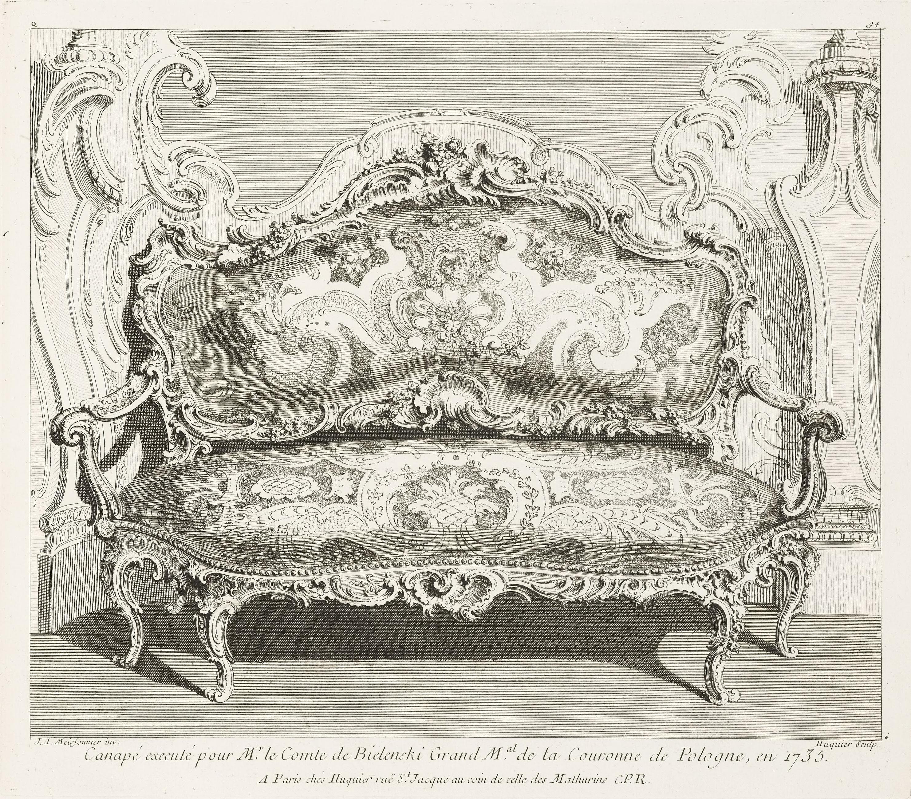 file juste aur le meissonnier canap execut pour mr le. Black Bedroom Furniture Sets. Home Design Ideas