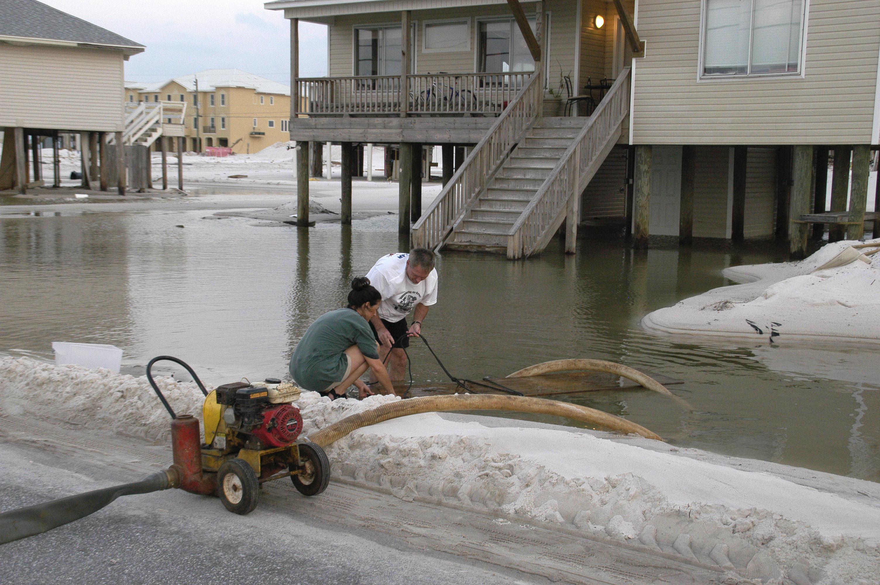 Flooding at Navarre Beach