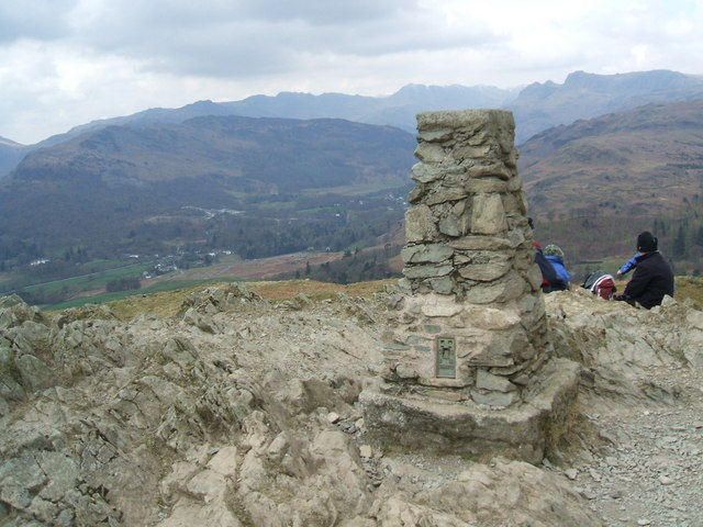 Loughrigg Fell summit - geograph.org.uk - 766431