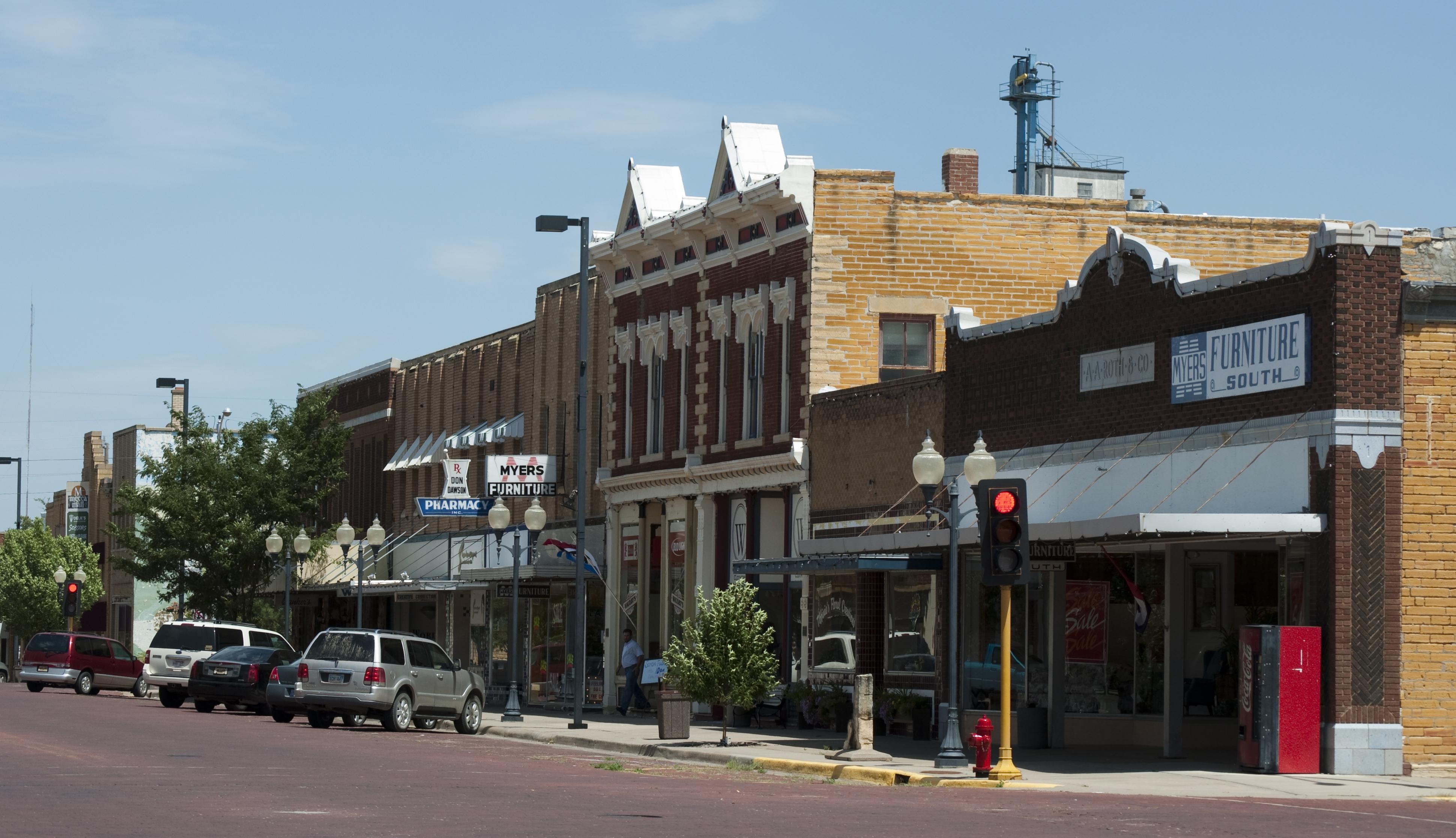 Main Street Russell Kansas 8 7 2009