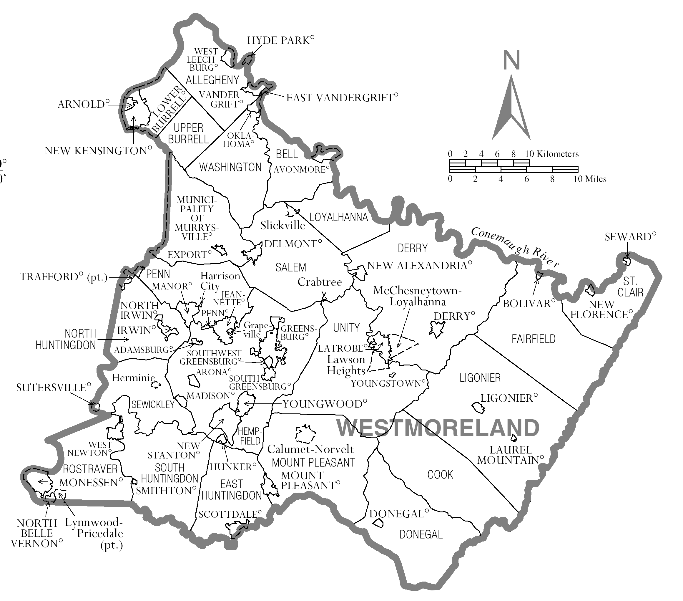 File:Map of Westmoreland County, Pennsylvania png