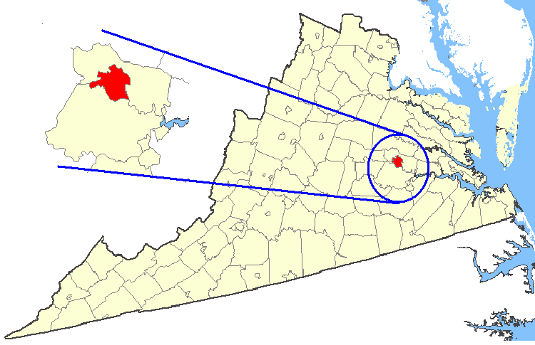 File:Map showing Richmond city, Virginia.png   Wikipedia