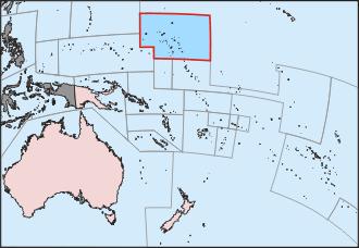 マーシャル諸島の位置