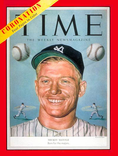 Mantle On The Cover Of Time June 15 1953