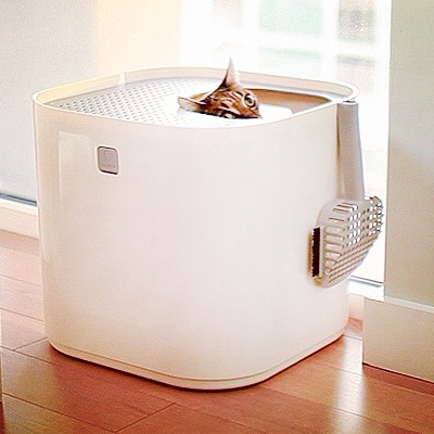 Modkat Cat Litter Box White by Modko