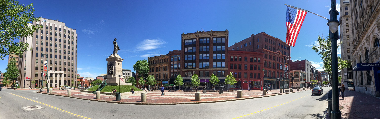 File Monument Square panorama Portland Maine Wikimedia mons