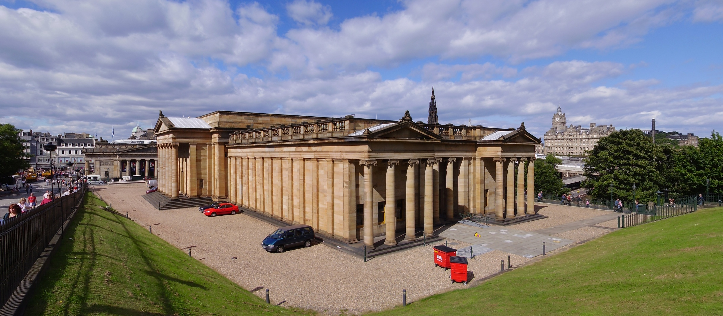 The National Gallery of Scotland, Edinburgh, designed by William Henry Playfair, is a Category A listed building<!-- cite web -->