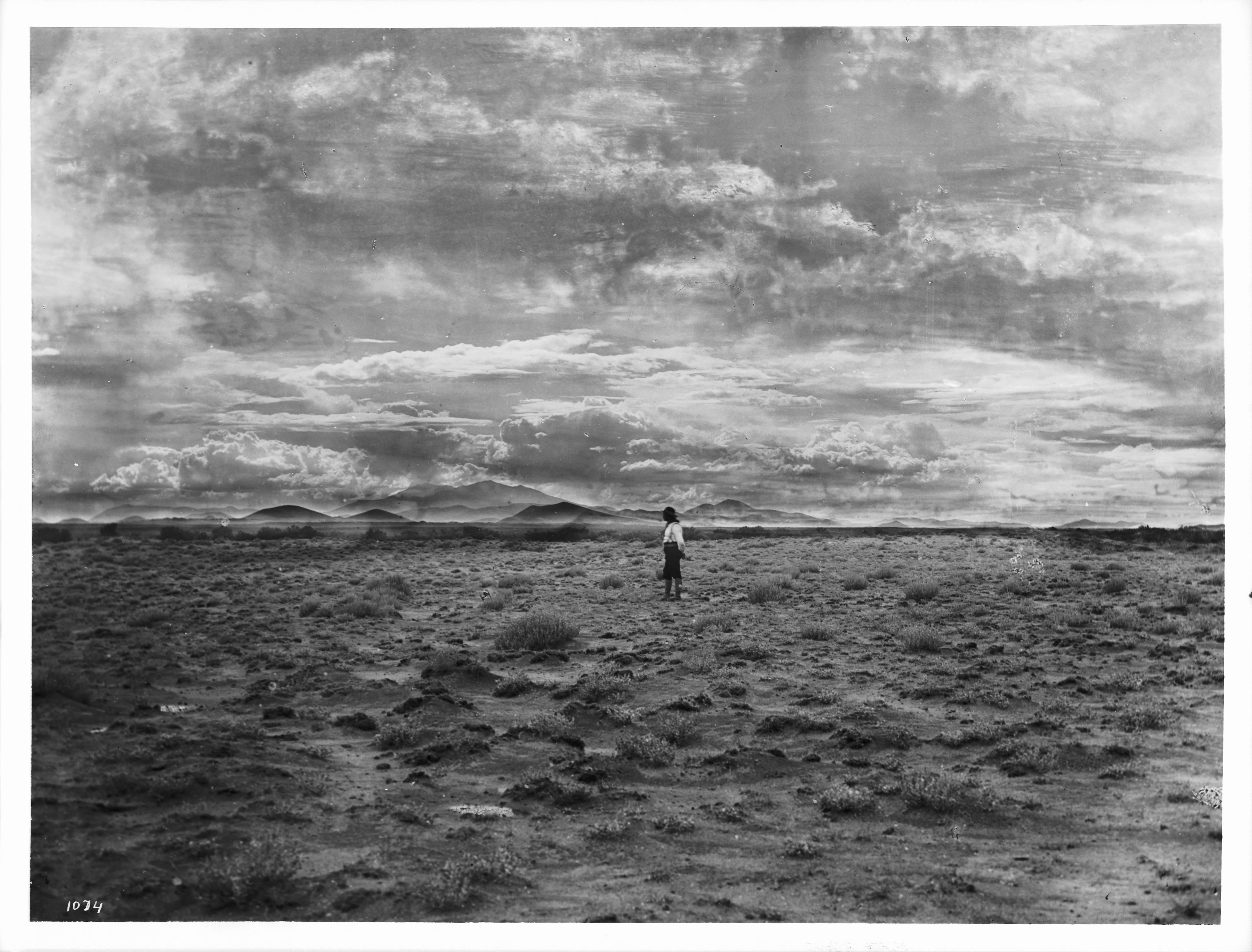 Navajo Indian Standing Alone On The Painted Desert C Arizona C Ca Chs
