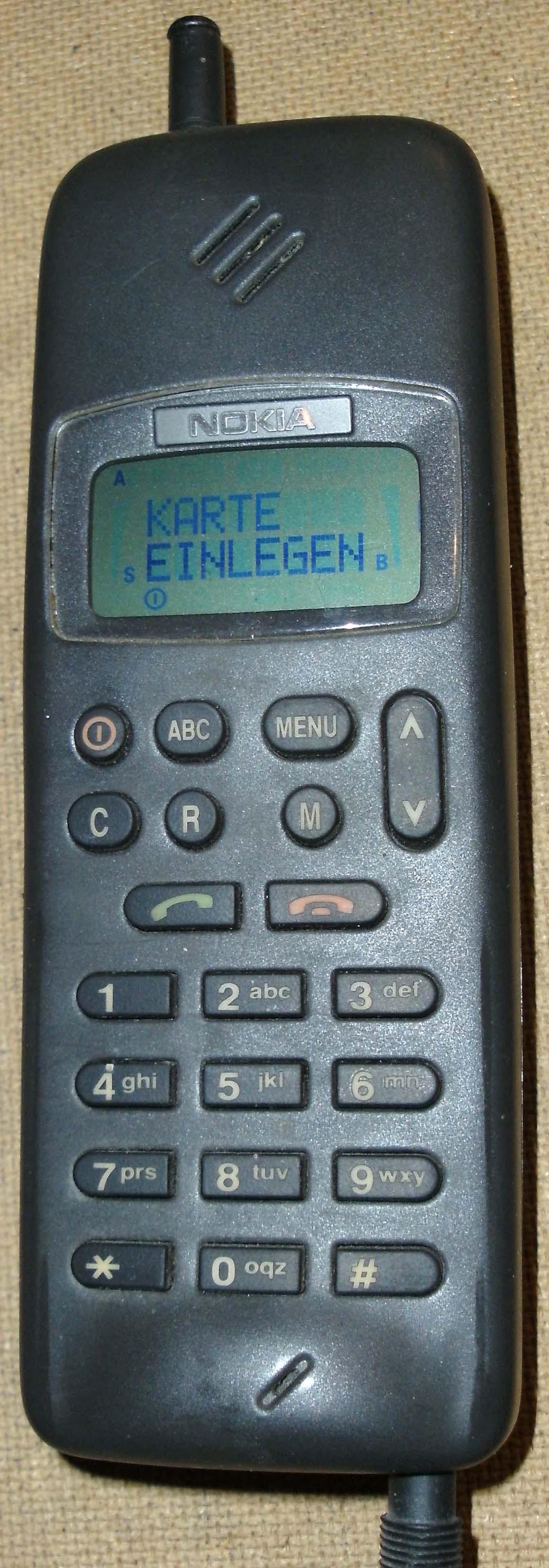 Imagens de telemóveis antigos - Nokia 1011