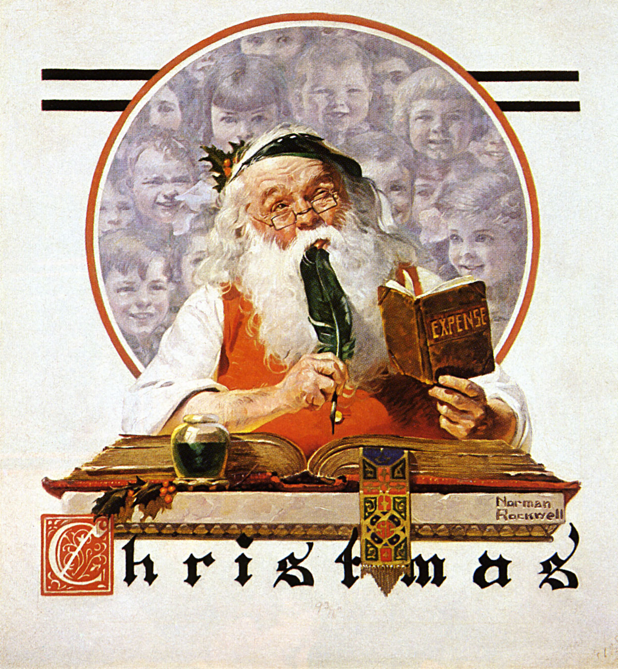 File:Norman Rockwell Santa and expense book.jpg - Wikimedia Commons