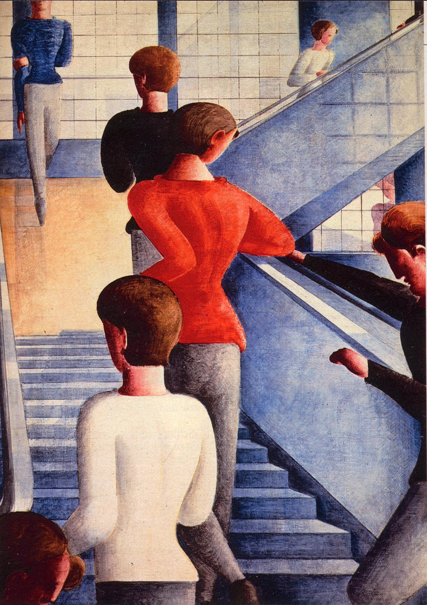 Bauhaustreppe, Gemälde von O. Schlemmer