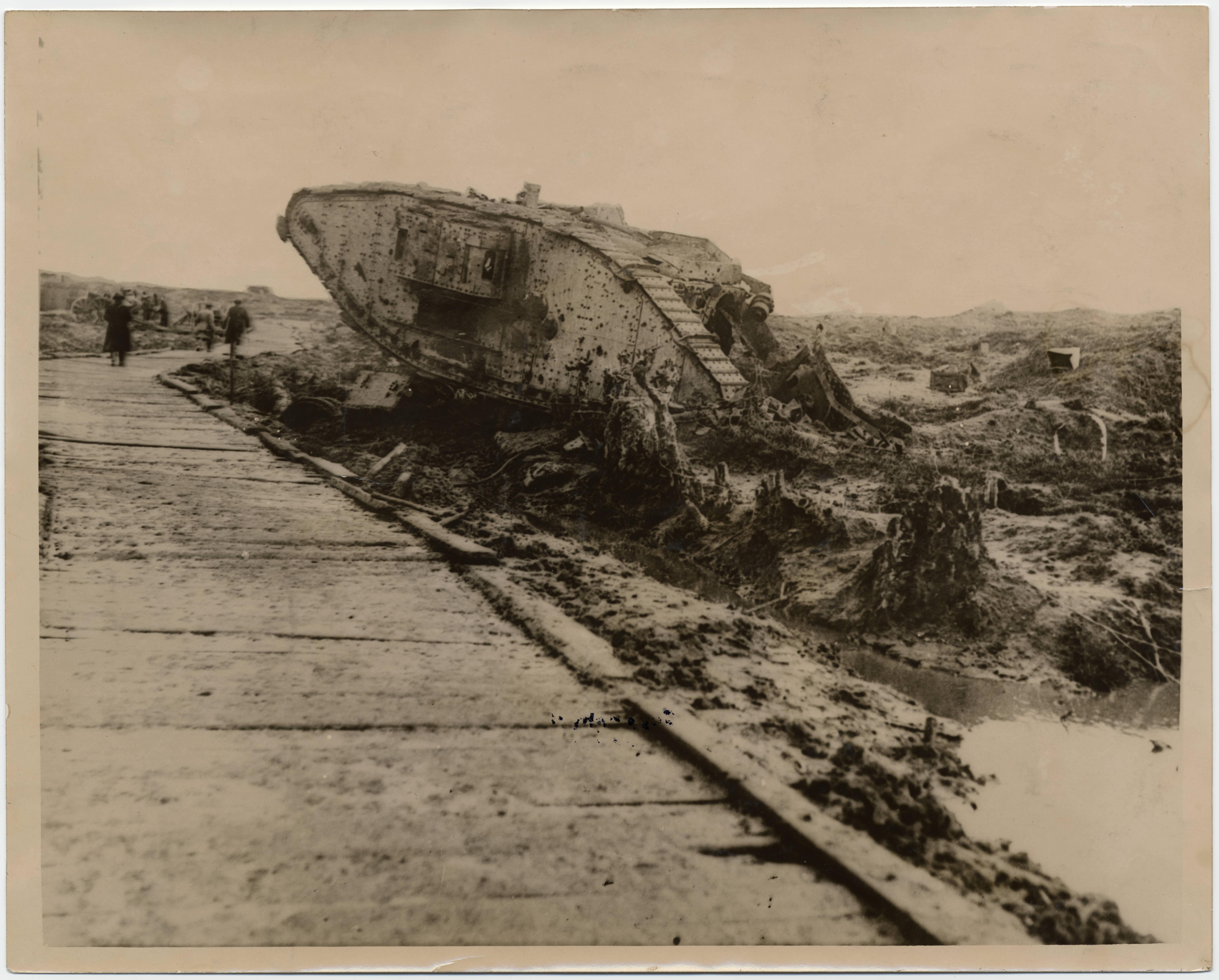 File Passchendaele Destroyed Tank In Graveyard