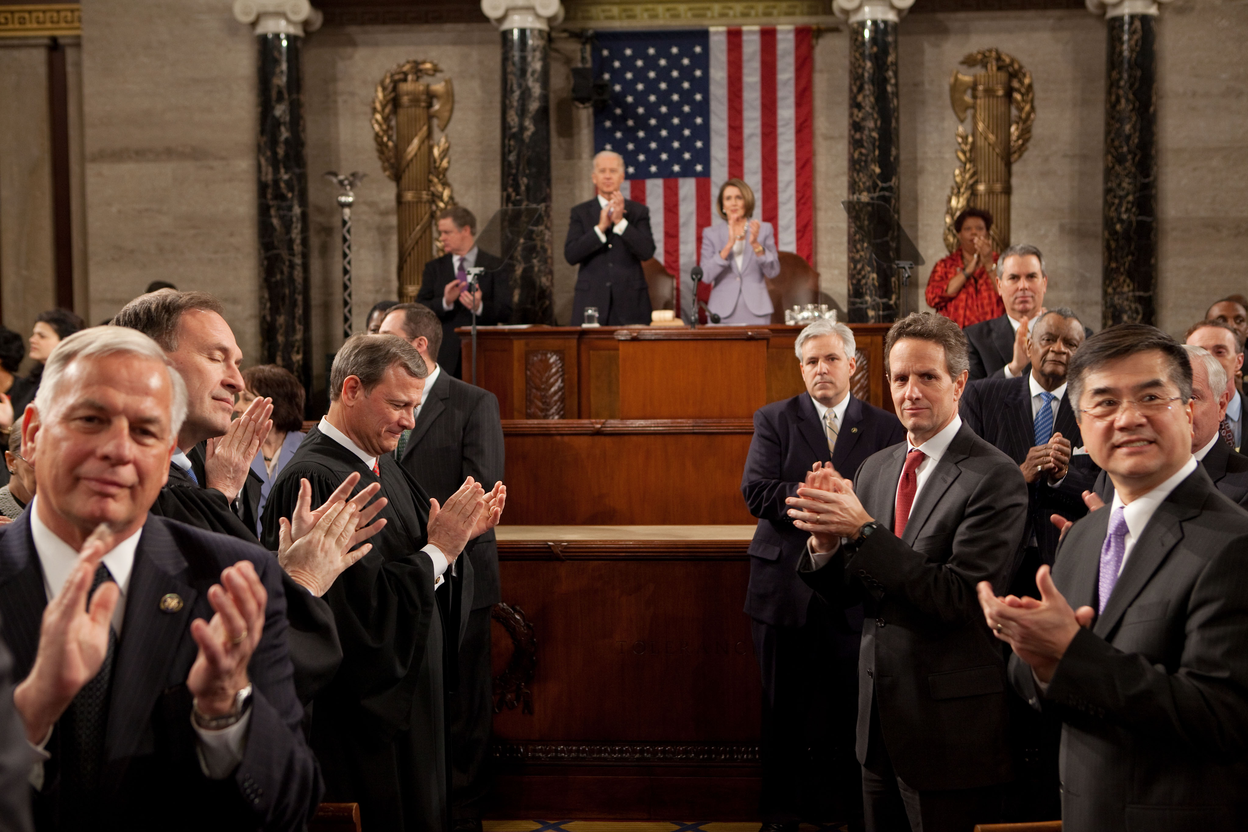 Sotu Preview >> File:Pathway through House chamber for SOTU speech.jpg - Wikimedia Commons