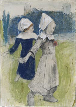 File:Paul Gauguin - Study for Breton Girls Dancing.jpg