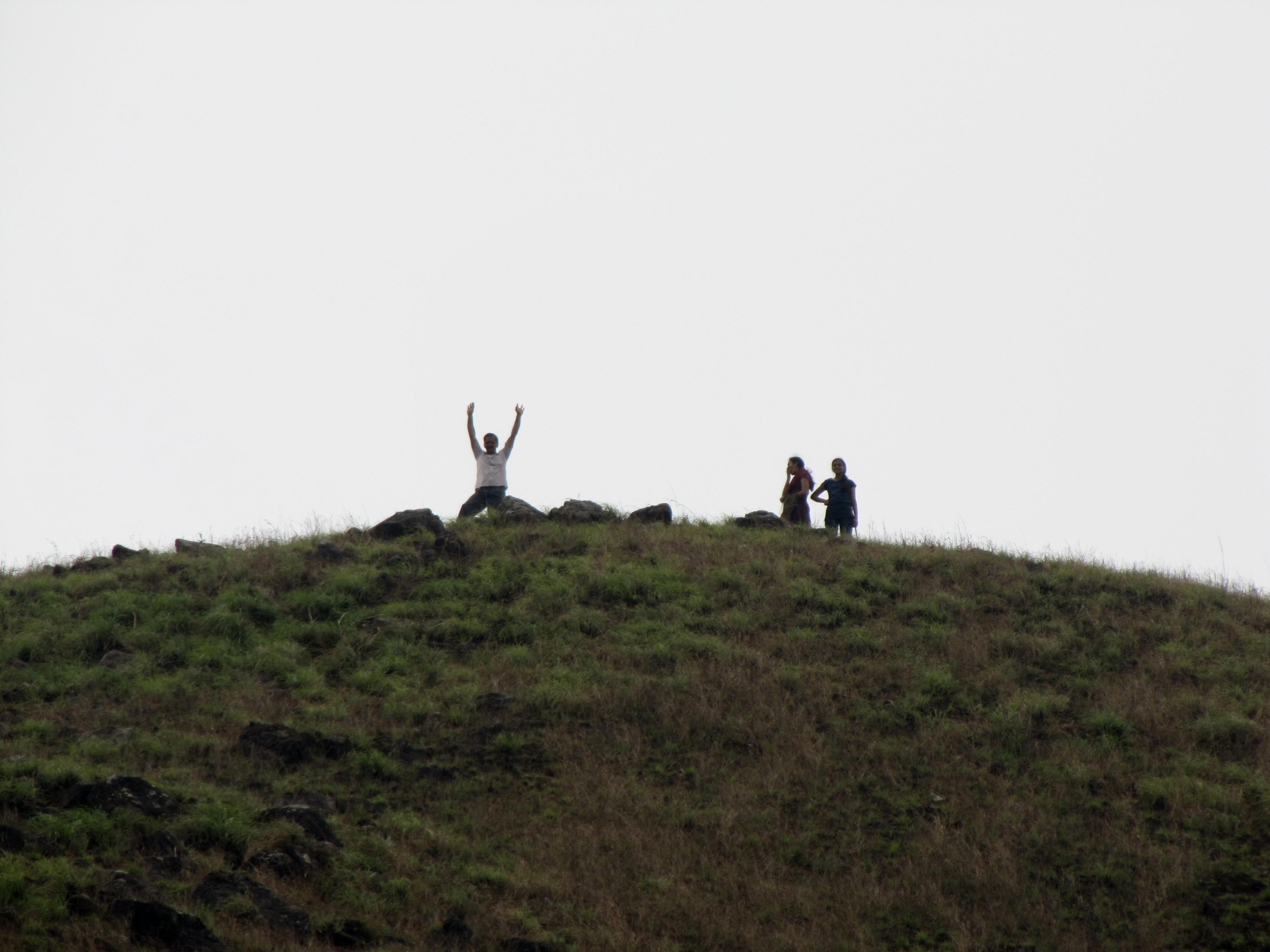 File:People enjoying after reaching the Ranipuram hill top.jpg ...