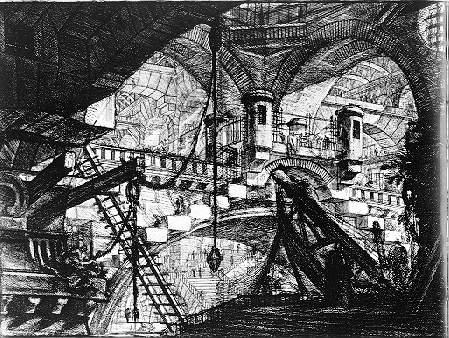Giovanni Battista Piranesi : L'arche avec parure en coquillage (série des prisons imaginaires) / Wikimedia Commons