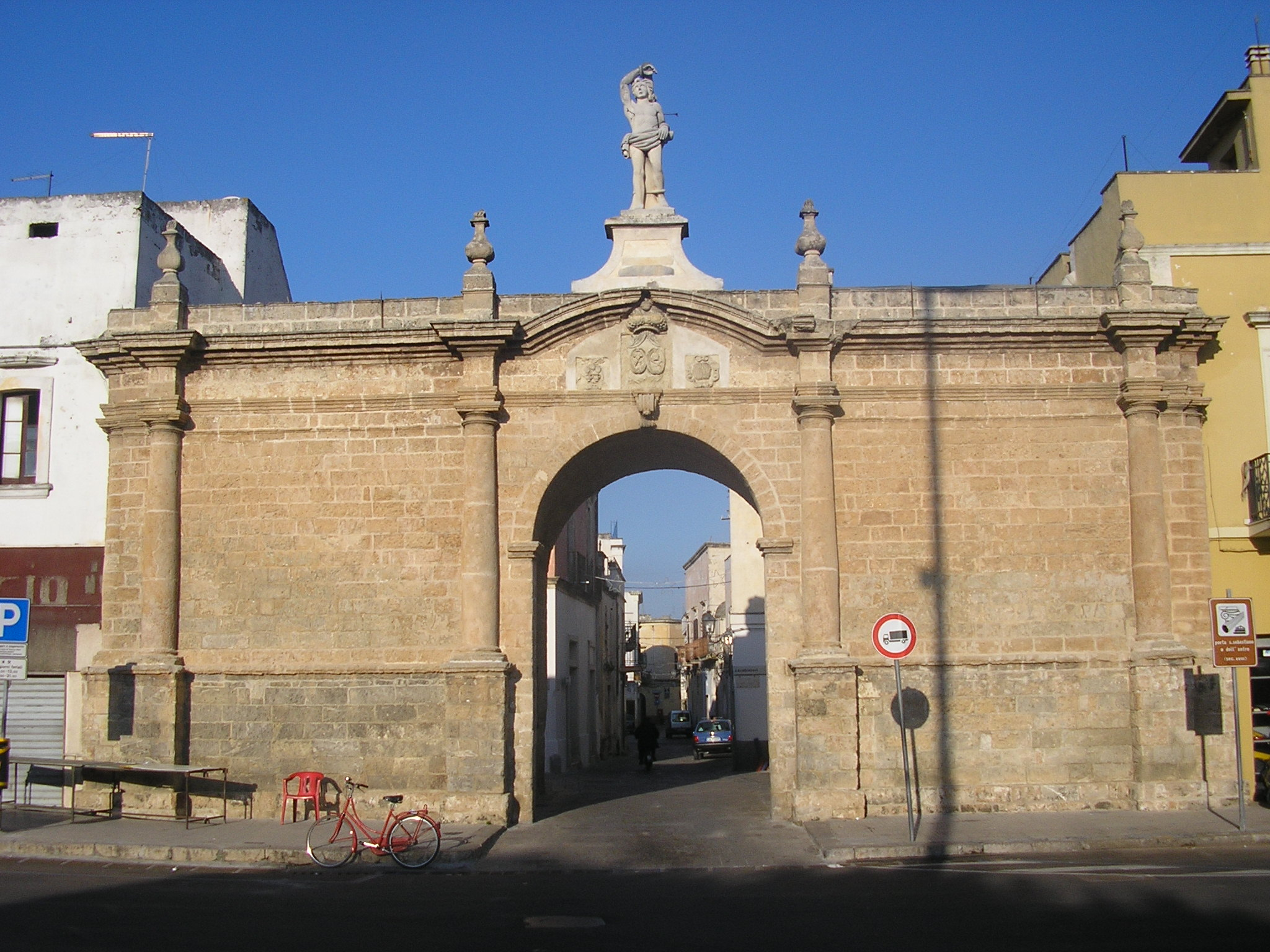 Porta San Sebastiano, built in 1748, is the main gate to the old town.