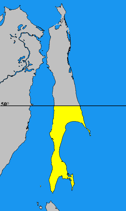 Embajada de Japón Prefectuur_Karafuto_map