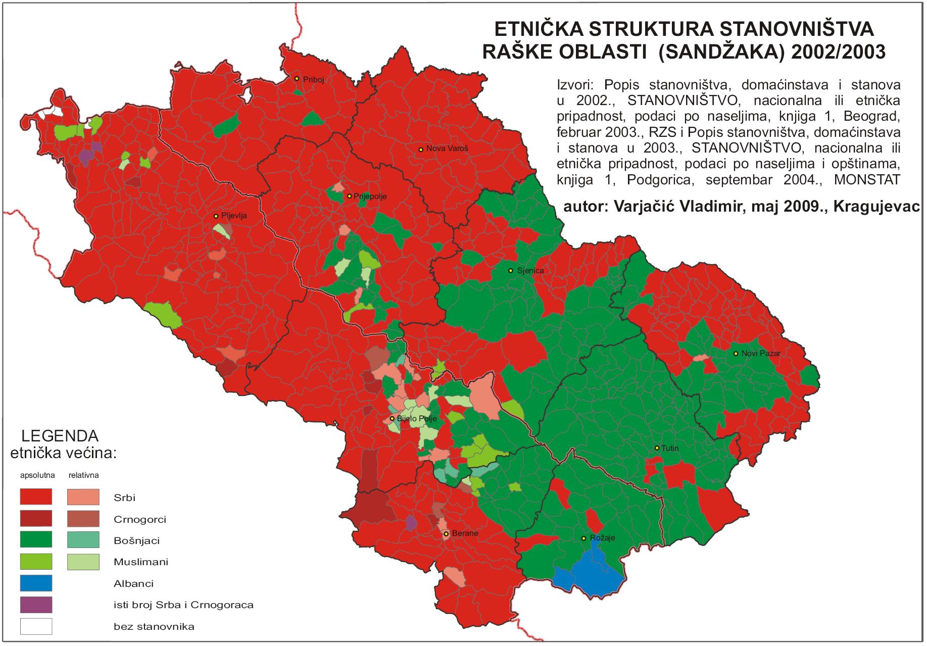 etnicka mapa crne gore History of Sandjak   Historum   History Forums etnicka mapa crne gore