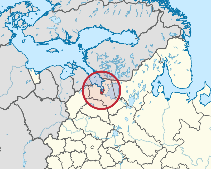 Saint Petersburg locator map