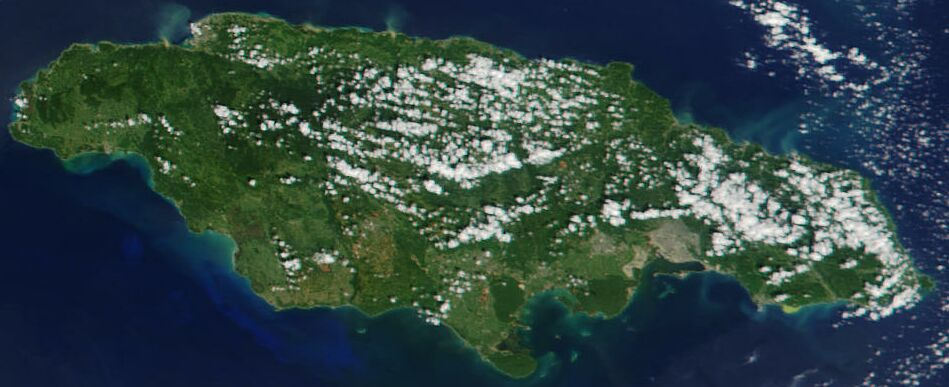 Image:Satellite image of Jamaica in November 2001