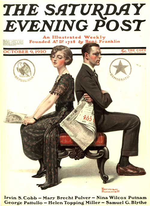 Norman Rockwell's The Saturday Evening Post cover from 1920