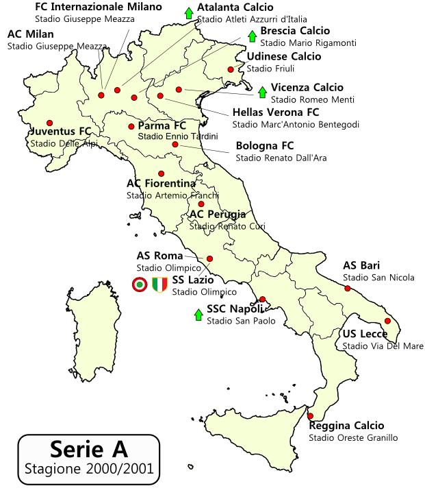 Serie A 2000 2001 Wikipedia