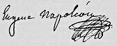 Eugène de Beauharnais, Porträt von Andrea Appiani, 1810. Beauharnais' Unterschrift: (Quelle: Wikimedia)