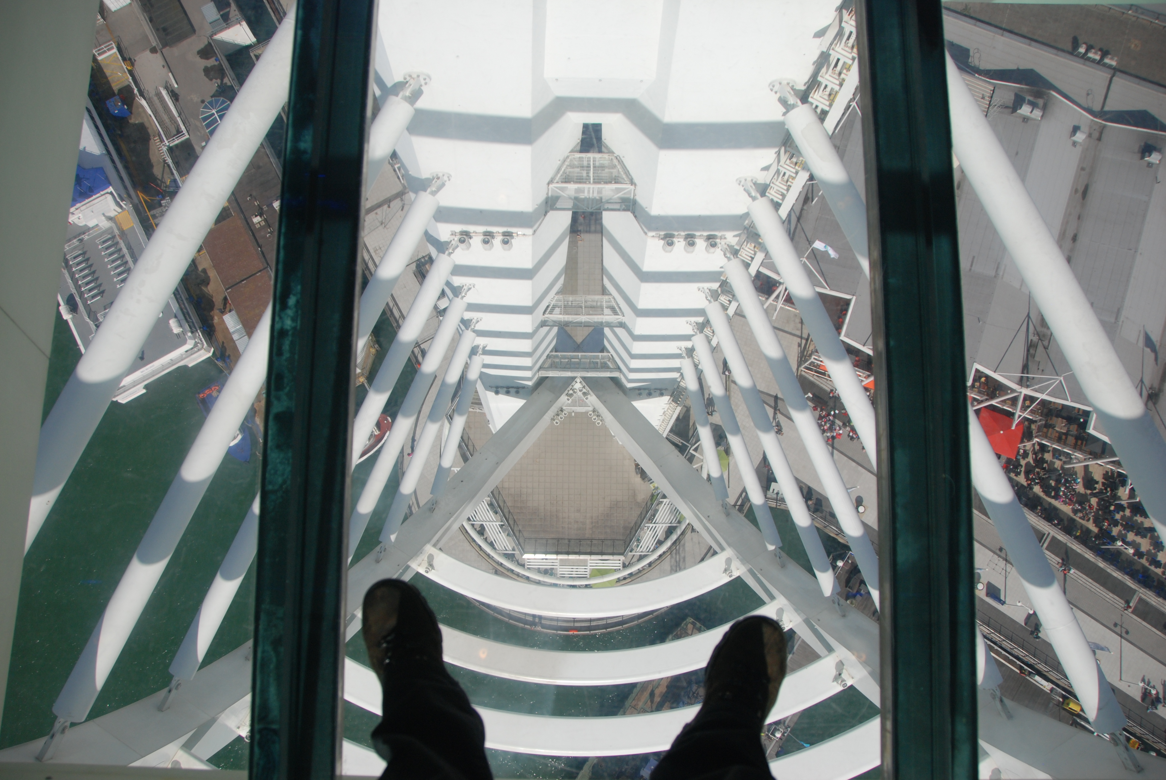 File:Spinnaker Tower - Looking down through the glass