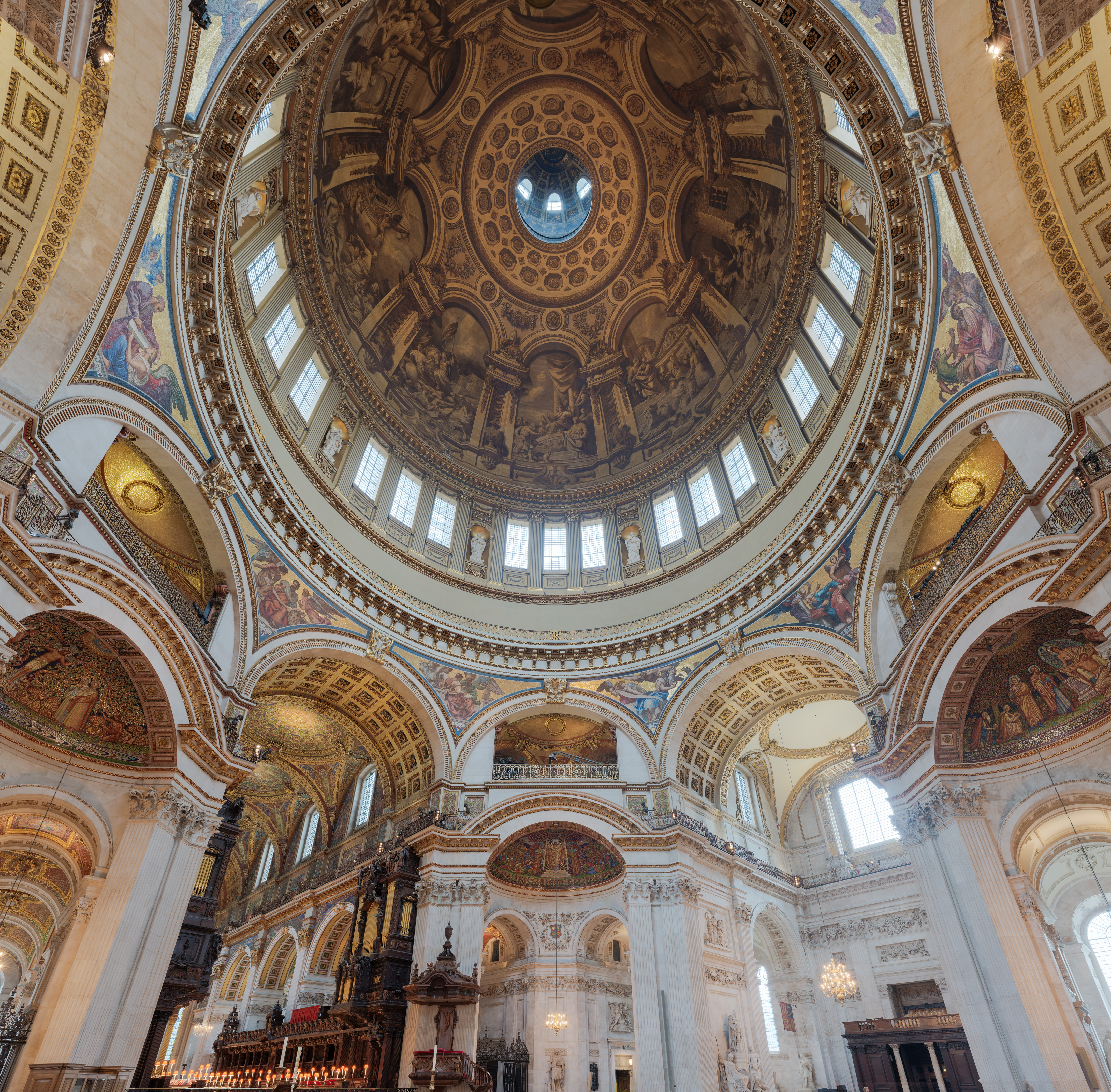 File St Paul S Cathedral Interior Dome 2 London Uk