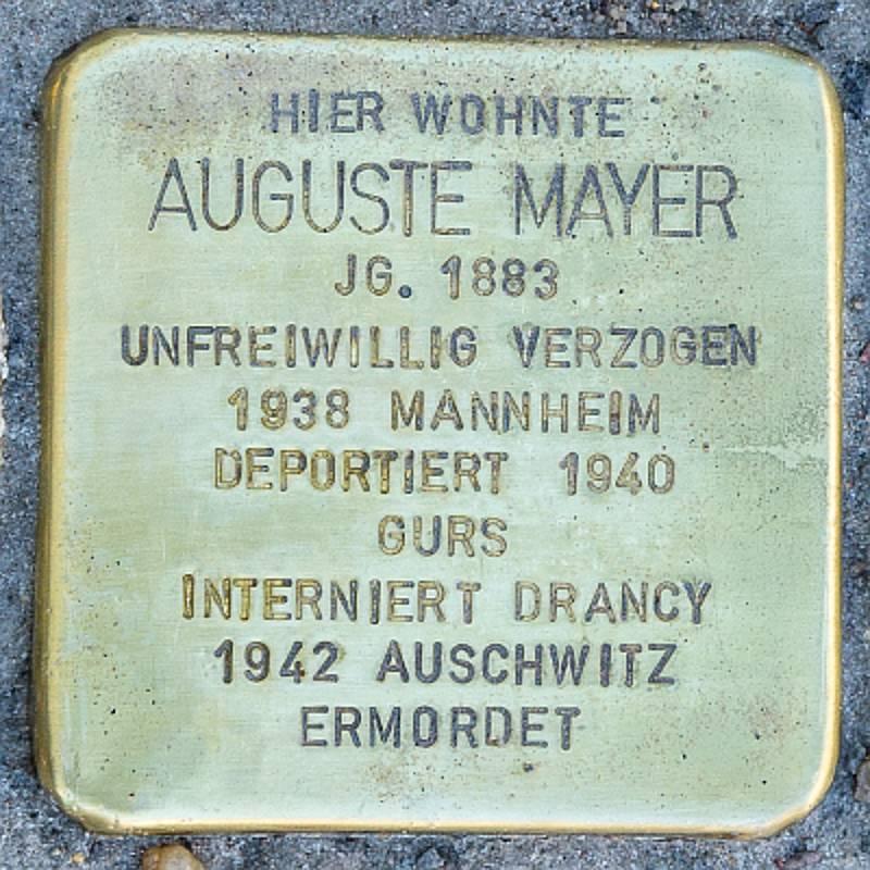 Stolperstein für Auguste Mayer