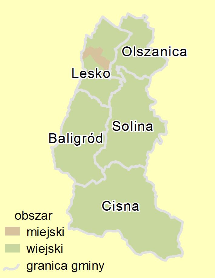 Plan powiatu leskiego