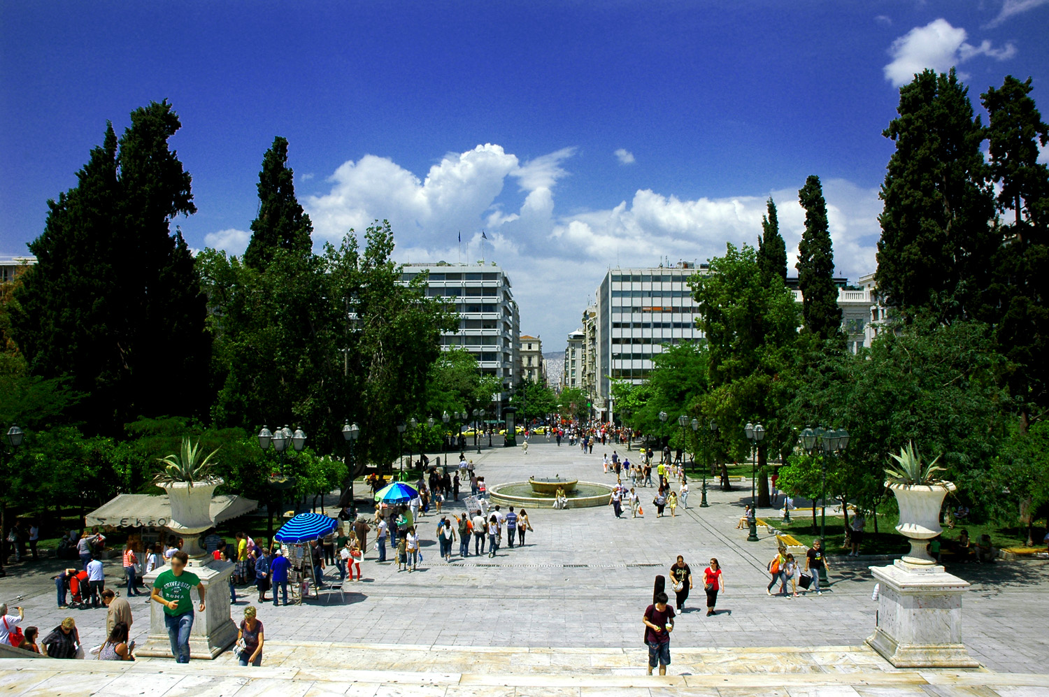 The iconic Syntagma square in Athens