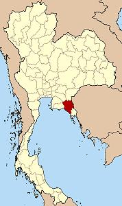 แผนที่ประเทศไทย เน้นจังหวัดจันทบุรี